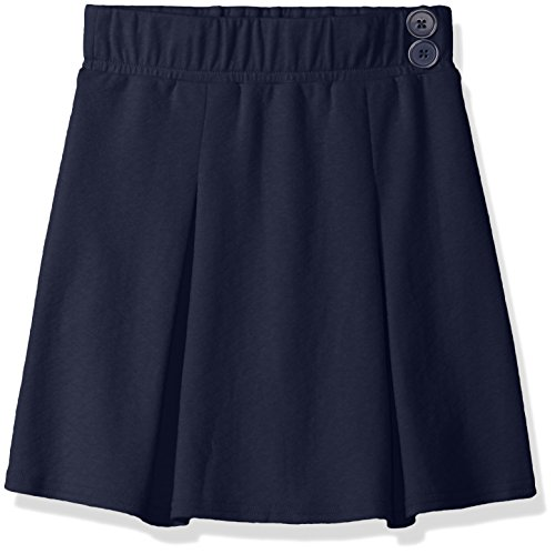 Cherokee Big Girls' Uniform Skirt with Hidden Short, Navy, (Knit Short Skirt)