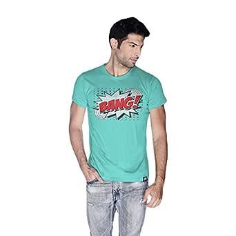 Creo Bang Retro T-Shirt For Men - S, Green