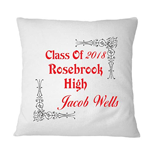 Style In Print Personalized Custom Text Old Graduation Class of Polyester Accent Throw Case for Couch Sofa Bed Home Decor Pillow Cover - Cover Only