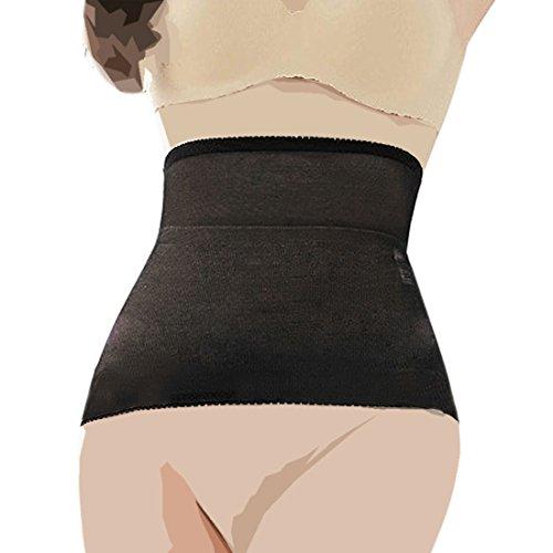 Waist Trimmer Black Nylon Tummy Girdle M - 9