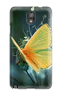 linJUN FENGNew Shockproof Protection Case Cover For Galaxy Note 3/ Nice Yellow Butterfly Case Cover