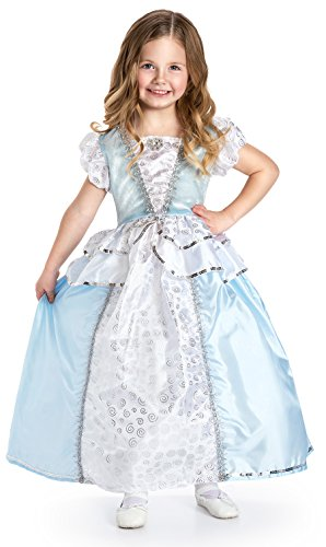 Little Adventures Cinderella Princess Dress Up with Headband, Necklace, Gloves & Hairbow Age 3-5