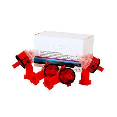 3M™ Accuspray™ Atomizing Head, 16609, 2.0 mm, Red Opaque, 4 atomizing heads per kit, 6 kits per case
