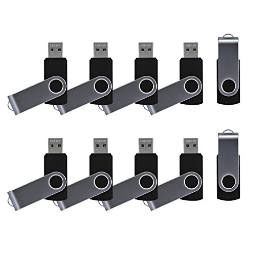 10 X Enfain 8GB USB 2.0 Flash Thumb Memory Stick Zip Pen Drive Black, Ideal for delivering marketing presentations, promotional giveaways, catalogs, software distribution, music, video