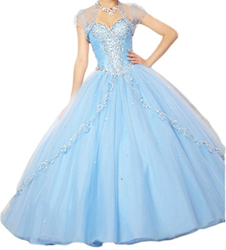 Damen Quinceanera Appliques Kleider Fanciest Blue Dresses Ball Pink Hot Sweet 16 dRnqRwAY