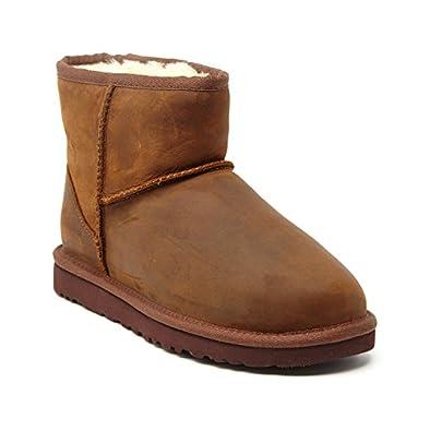 ugg women s ugg boots classic mini leather brown size 6 5 amazon rh amazon co uk