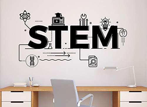 (STEM Science Wall Decal Vinyl Sticker Technology Engineering Mathematics Decor Classroom School Interior (71n))