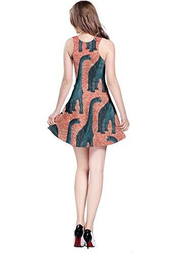 Sleeveless Dinosaur Dinosaur Orange XS 5XL Fossil CowCow Womens Tyrannosaurus Jurassic Dress fXwnxpzO