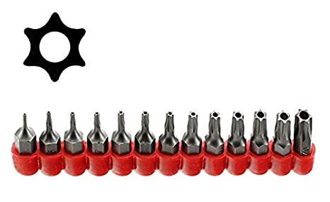 McKay Multifunction 13 Pc, Star 6 Point, Security Tamper Proof, Torx Driver  Bit Set- Securely screws onto most ¼