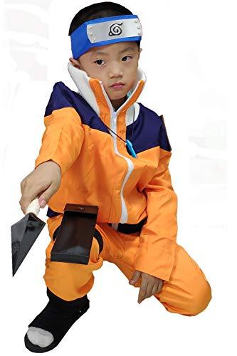 OURCOSPLAY Boy's Uzumaki Kids Size Cosplay Costume Include Headband 3Pcs (Child L(XXS)) -