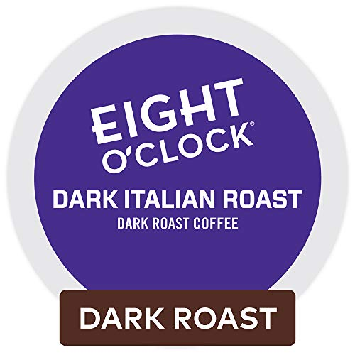 Eight O'Clock Coffee Dark Italian Roast, Single Serve Coffee K-Cup Pod, Dark Roast, 72