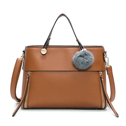 A amp;n Handle Womens Mixed Material Handbag Brown vHHyU