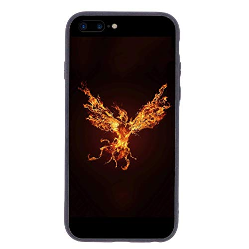 CHUFZSD Legend Fire Phoenix iPhone 7/8 Plus Case Soft Flexible TPU Anti Scratch Shock-Proof Protective Shell Compatible Phone Case Cover (5.5 Inch) -