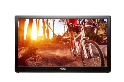 AOC e1659Fwu 16-Inch Ultra Slim 1366x768 Res 200 cd/m2 Brightness USB 3.0-Powered Portable LED Monitor w/ Case by AOC (Image #2)