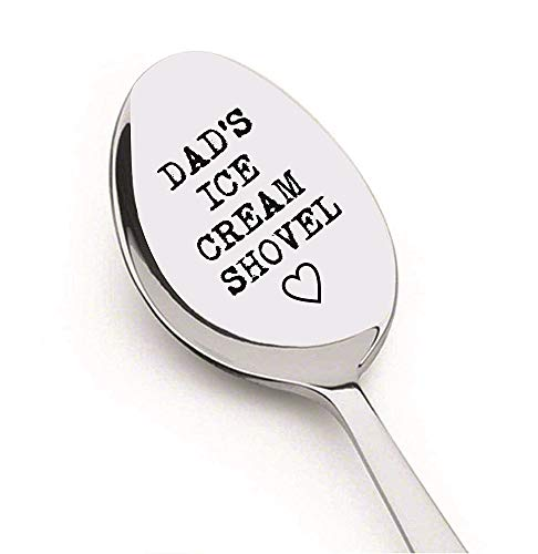 Christmas Gift Dad's Ice Cream Shovel by Weenca-Sturdy Stainless Steel Ice Cream Spoon- Perfect Gift for Beloved Dad-Ice Cream Lover – Spoon Engraved by Laser Maschine