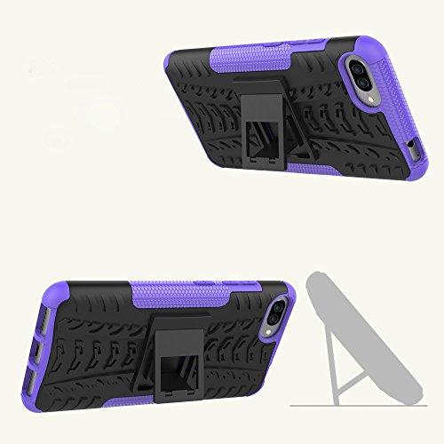 OFU®Para Asus Zenfone 4 Max ZC554Kl Smartphone, Híbrido caja de la armadura para el teléfono Asus Zenfone 4 Max ZC554Kl resistente a prueba de golpes contra la lucha de viaje accesorios esenciales del púrpura