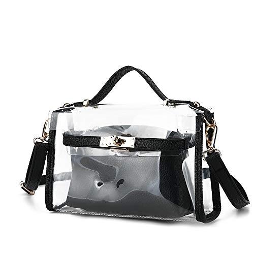 à Tout Grande Fourre Set Pieces Chloride Bag Noir À Capacité Women's main sac De Black Red Bags PVC Pocket QZTG Purse Main Shoulder 2 Sacs Polyvinyl 5gq1nOP