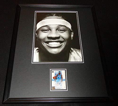 Carmelo Anthony Signed Framed 16x20 Photo Display UDA Knicks Syracuse