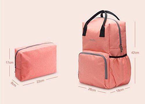 Bolsa de mamá, bolso de hombro, de gran capacidad de múltiples funciones de la madre para ser producido paquete, suministros infantiles mochila ( Color : Purple ) Purple