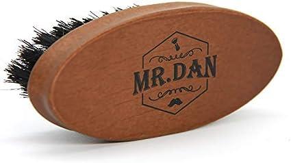 TROP Mr. Dan by Cepillo de Barba, Cepillo cerdas de jabalí, empuñadura Madera de Shima