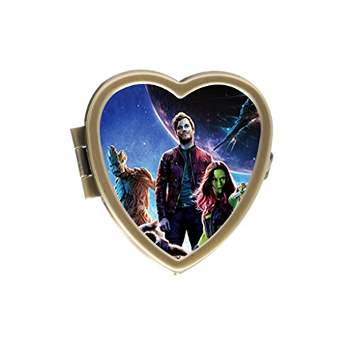 Guardians Of The Galaxy Lee Pace Chris Pratt Zoe Saldana Custom Classic Style Bronze Stainless Steel Pill Box Pill Case Vitamins Organizer Or Coin - Zoe Home Saldana