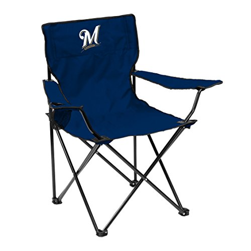Logo MLB Milwaukee Brewers Quad Chair, Adult, Blue