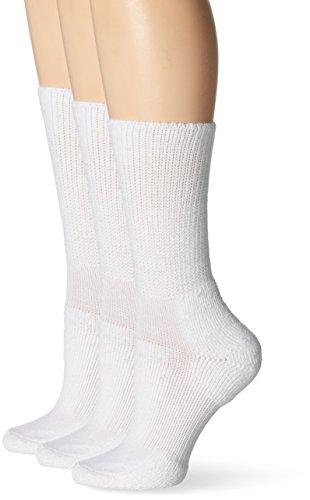 Thorlo Women's Walking Crew Sock 3 Pack, White, 11
