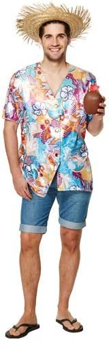 Disfraz Adulto Camisa Hawaiana Talla Única: Amazon.es ...