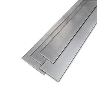 2mm U-Profile Edelstahl geb/ürstet 1.4301 20x25x20mm 1000mm L/änge
