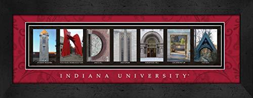 Bold Border Big (Prints Charming Letter Art Framed Print, Indiana University-Indiana, Bold Color Border)
