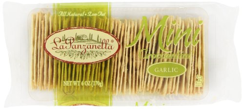La Panzanella Garlic Mini Croccantini, 6-Ounce Packages (Pack of 6)