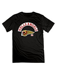 Men's Hells Angels Motorcycle Club Logo H.A. Short Sleeve T-shirts