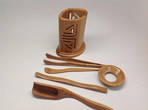 musiccitytea Bamboo Gong Fu Tea Tools Medium Size Tools M002