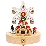 Music Box Wooden Music Box Birthday Present Snowflake Ferris Wheel Music Box