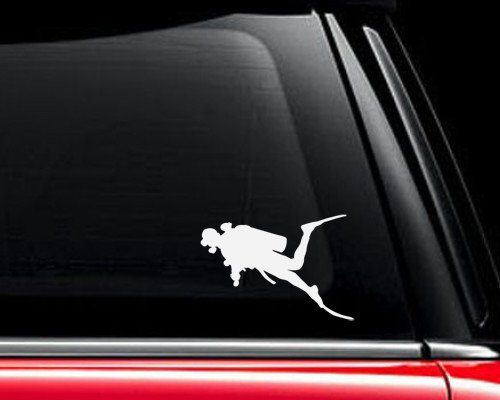 Scuba Diver Diving - Vinyl Decal - Car Truck Laptop - SELECT SIZE