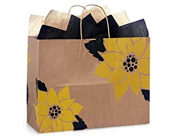 Amazon.com: Bolsas de papel reciclado 100 % de girasol VOGUE ...