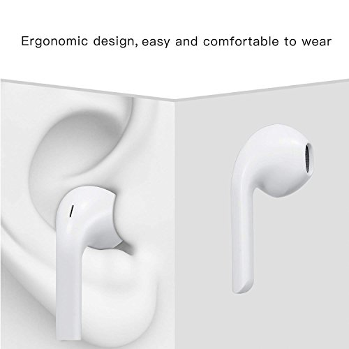 Earbuds,XiQIN Headphones with Microphone New Earphones for apple iPhone 6s 6 Plus 5s 5 4s 4 SE iPad iPod 7 8 IOS S8 S7 S6 Note 1 2 3 Earbuds Earphones 2 pack Headphones Earpods by XiQIN (Image #3)