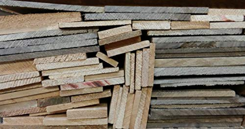 Box of Thin Unfinished Craft Wood Scrap Lumber for sale  Delivered anywhere in USA