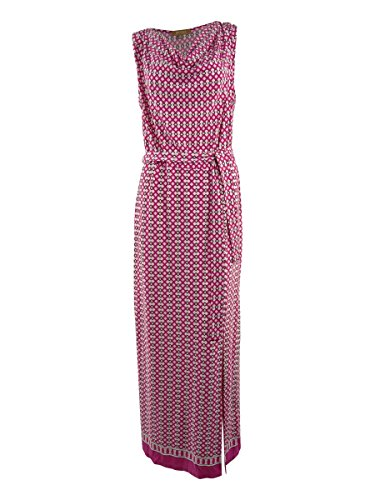 Ellen Tracy Women's Printed Cowl Neck Belted Jersey Dress (XS, Camilla (Belted Cowl Neck Dress)