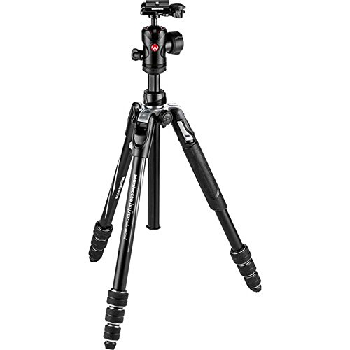 Manfrotto Befree Advanced Travel Al Tripod with Ball Head (Twist Locks, Black)