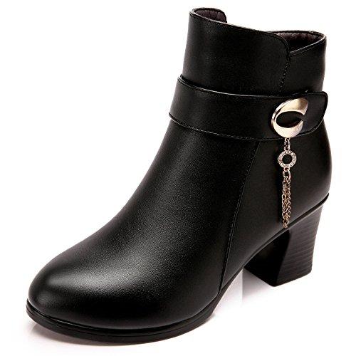 160cm 160cm Stivali Stivali Stivali Stivali Caviglia con Strass Scarpe Comodi con e Calde Velluto Scarponcini di Medio alla 7660CM XIE 90 Grossolana fdCqTxBwT