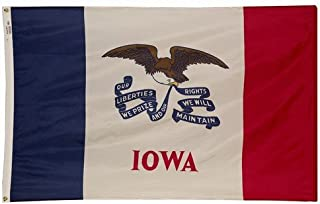 product image for Iowa 1921 State Valley Forge Indoor Outdoor Dyed Nylon Flag Grommets 2' X 3'