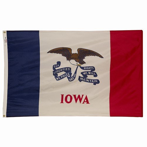 4x6 Iowa State Flag American Made Superior Outdoor Nylon