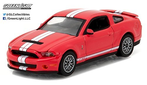 (Greenlight New 1:64 Muscle Series 18 Collection - RED 2011 Ford Shelby GT500 Race RED Diecast Model Car)