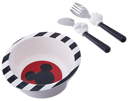 The First Years Disney Mealtime 3 Piece Set, Mickey Mouse (Mickey Set Plates Mouse)