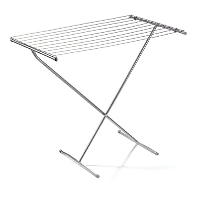 "Polder 8309-76 Deluxe Free Standing Clothes Dryer, 35.5"" x 21"" x 32.5"" - Rugged steel rod construction 29' of drying space over ten 35"" steel rods Measures 32.5"" x 35.5"" x 21"" high when open - laundry-room, entryway-laundry-room, drying-racks - 41ircN1pJLL. SS400  -"