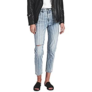 One Teaspoon Legends High Waist Mom Jeans Skinny Denim Rocky Stripe
