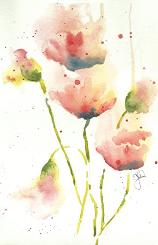 Blank Note Cards: 6 Blank Artistic Summer Floral All Occasion Watercolor Cards, With Envelopes - Pam's (Pam Branch)