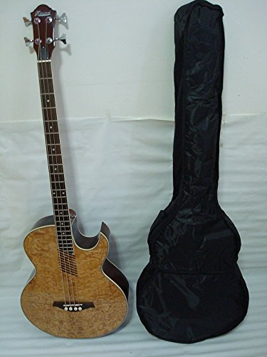 ktone acústico de 4 Cuerdas de Guitarra Eléctrica, color natural ...