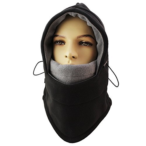 Magisor Thermal Balaclava for Neck Warmer - Winter Snowboard Ski Mask - Outdoor Cycling Motorcycle Full Face Mask - Camping Warm Windproof Hood Cap Women Men (Black Grey)